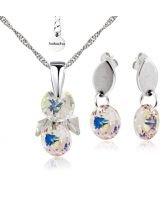 Бижута SWAROVSKI® RIVOLI STRING Crystal Aurore Boreale** AB, Бял, Колие и обеци,  Код PR S407