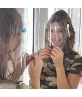 Предпазен защитен шлем очила за многократна употреба, Код: Q002