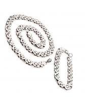 Ланец и гривна от стомана Силвър РИНГС, код 316L S003-10mm