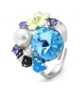 Пръстен BLUE MYSTIC, ZYRDA Crystals from SWAROVSKI®, Код ZD R004