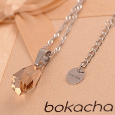 Бижута с кристали Swarovski® POLYGON DROP 17мм Golden Shadow**, Натурален, Код PR S094