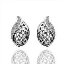 Обици МИЛАНО, 18K бяло златно покритие, Zerga Jewelry, 18KG E31911