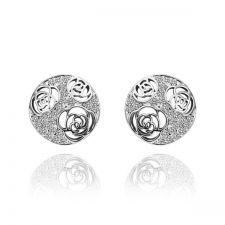 Обици ПОЕЗИЯ с 18K бяло златно покритие, Zerga Jewelry, Код: 18KGFNO E51110