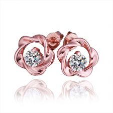 Обици МАГИ с 18K розово златно покритие, Zerga Jewelry, 18KG E31514