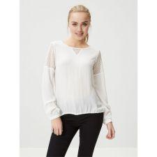Привлекателна  блуза VERO MODA с дантели в снежно бяло, Размер S-M,  Код BL0130