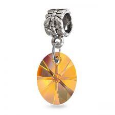 Талисман МАГИЧЕСКИ ОВАЛ от Swarovski® в тропически оранжев цвят, Код PR V054