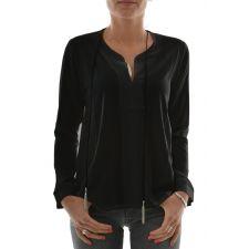 Дамска блуза HOLLY BRACKEN с ефектно колие в чрен цвят, Размер XS, Код BL409