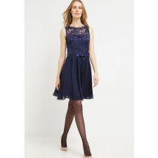 Елегантна рокля SWING с дантела в тъмно син цвят, Код DD0027-SW