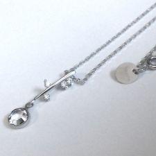 Колие POINT Swarovski® Chaton Crystal - Бял, Код PR N490