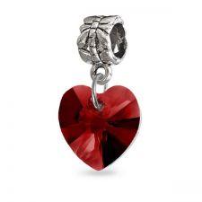 Талисман ОБИЧ от Swarovski® в страстно червен цвят, Код PR V062