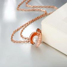 Колие СЪКРОВИЩЕ с Перла и 18К Розово Злато, Zerga Brand, 18KG N01510