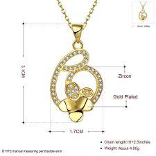Колие  ДЕВА с 18К Жълто Злато, Zerga Brand, Код 18KG N01710-A