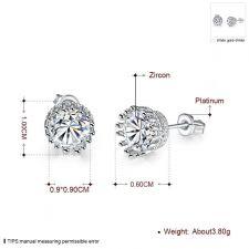 Обеци БЕЛИ ДЕНС с Австрийски кристали, Колекция Zerga Brand, Код 18KG E02024
