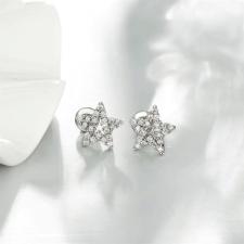 Бижута НОВО СЪЗВЕЗДИЕ Колие с Обеци с Кристален Цирконий и Бяло златно покритие, Zerga Brand LUX, ZG S468 А