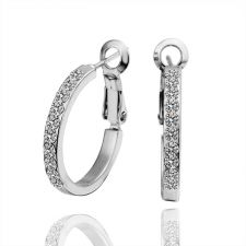 Обеци КРИСТАЛНИ ХАЛКИ малки, Zerga Collection, бяло златно покритие, 18KG E35878
