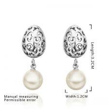 Обеци ПЕРЛЕНА МЕЧТА, Zerga Jewelry, синтетични перли, 18KG E53285