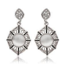 Обеци ДЖЕЙН с 18К Бяло Злато, Колекция Zerga Jewelry, Код 18KGFNL E99766-C