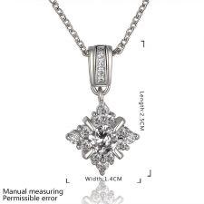 Колие МАРИЯ с Austrian Crystals и 18К Бяло Злато, Колекция Zerga Brand, Код 18KGFNL N81010-C