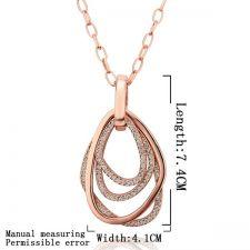 Колие КАМЕЛИЯ с Австрийски Кристали и 18К Розово Злато, Zerga Jewelry, Код 18KG NM02021