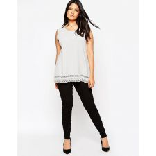 Женствена блуза NEW LOOK с игрива дантела по края, Размер XXXL,  Код BL0132
