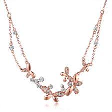 Колие ЖАСМИН NEW с кристали Swarovski® и 18K Розово златно покритие, Zerga Brand, Код ZG N464
