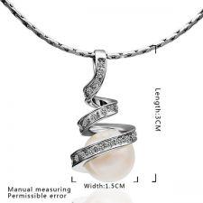Комплект бижута НЕЖНА ПЕРЛА, Zerga Brand, бяло златно покритие, 18KG S03495
