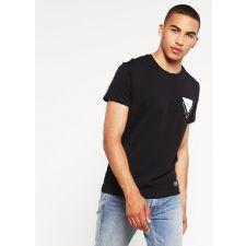 Eфектна тениска BROOKLYN'S OWN в черен цвят с къс ръкав, Размер XL, Код BL326