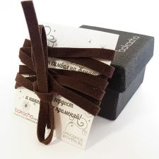 Чокър SIMPLE CHOKER, два броя в шоколадово кафяв цвят, 316L C021