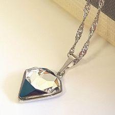 Колие SWAROVSKI® TILTED CHATON Crystal, Бял цвят, Код PR N543