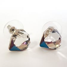 Обеци SWAROVSKI® TILTED CHATON Crystal, Бял цвят, Код PR E543