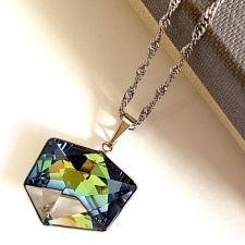 Колие с кристали Swarovski® TILTED DICE Sahara**, Синьо-Зелен цвят, Код PR N544