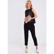 Ежедневна дамска чанта Anna Field, тип клъч в цвят капучино, Код F194