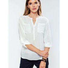 Свободна блуза TOM TAYLOR в бяло с джобове, Размер M, Код BL0078