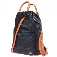 Раница Естествена Кожа ВЕНТУРА, FLORENCE, черен/кафяв цвят, Код FL20612