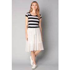 Дамска рокля MOLLY BRACKEN, черно и бяло райе, Размер S, Код DD0132