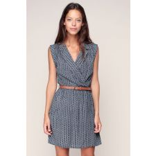 Дамска рокля LOUCHE цвят син, Код DD0073