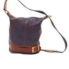 Чанта Естествена Кожа ЛОРЕНЦА, FLORENCE, лилав/кафяв цвят, Код FL300A3