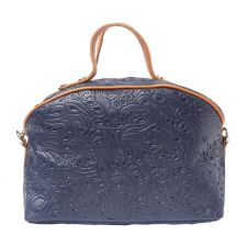 Чанта Естествена Кожа ДОМЕНИКА, FLORENCE, син/кафяв цвят, Код FL3019