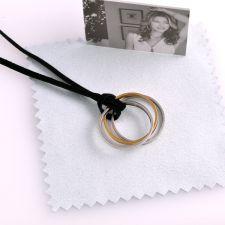 Черен велурен шнур за бижута 316L C003
