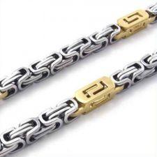 Мъжки Ланец от стомана ЗЛАТЕН ПЛУТОН, код 316L N027-8