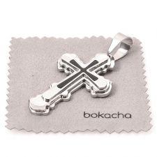 Висулка от стомана КРЪСТ, колекция BokaSTEEL, медицинска стомана, 316L P018