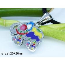 Бижута за деца ШАРЕНО СЛОНЧЕ ЗА КЪСМЕТ, медальон от медицинска стомана, 316L P205