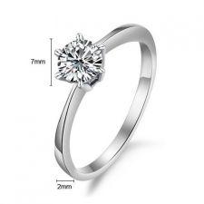 Пръстен ВЯРНОСТ от стомана с кристален цирконий. Годежен пръстен! 316L R011