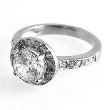 Пръстен ВЕНЕРА от стомана с кристален цирконий. 316L R018