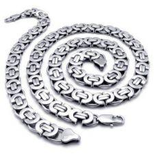 Ланец и гривна от стомана Силвър РИНГС 5mm, 316L S003
