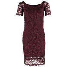 Елегантна рокля VERO MODA с дантела в цвят бордо, Размер M/L, Код DD0141