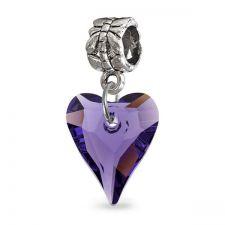 Талисман ДИВО СЪРЦЕ от Swarovski® в кралско лилав цвят, Код PR V046