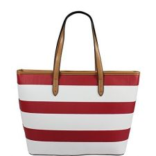 Елегантна чанта U.S. Polo Assn в червено бял цвят, Код F604