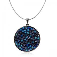 Колие с кристали Swarovski® CRYSTAL ROCK, Bermuda Blue BBL - Син, Код PR N440B