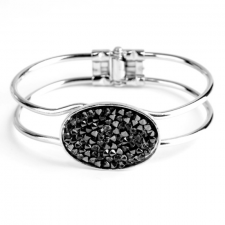 Гривна SWAROVSKI® CRYSTAL ROCK Silver Night** AB - Черен, Код PR B441B